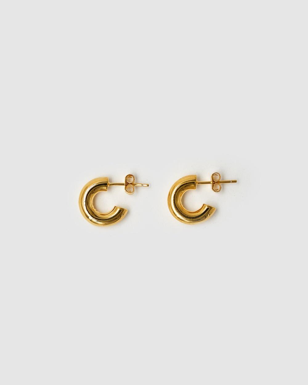 Brie Leon 925 Solid Everyday Mini Stud Earrings Jewellery Gold