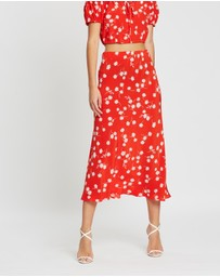 Bec + Bridge - White Daisy Midi Skirt