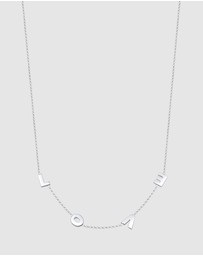 Elli Jewelry - Necklace Love Wording Pendant 925 Sterling Silver