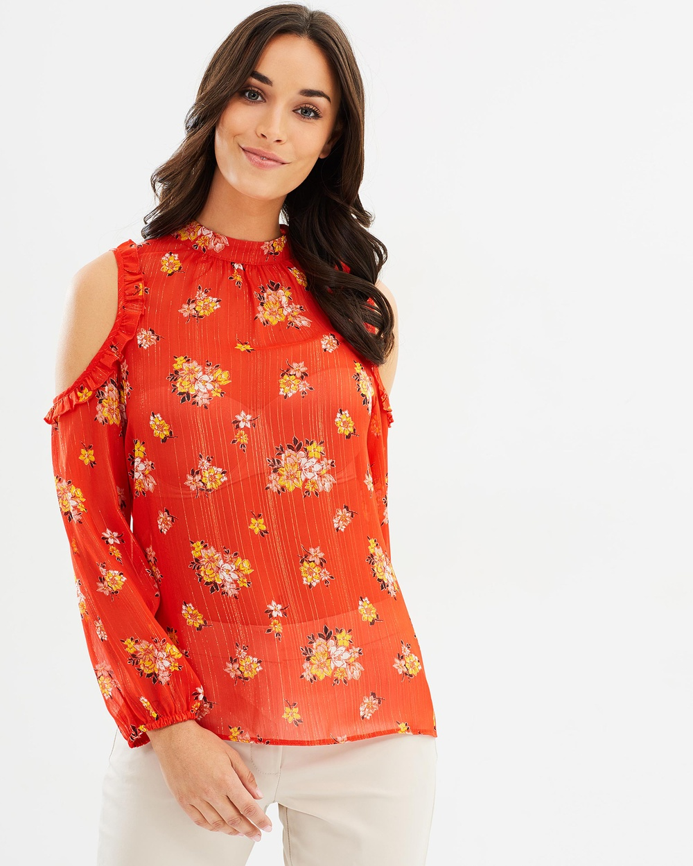 Dorothy Perkins Kate Chiffon Top Tops Red Kate Chiffon Top