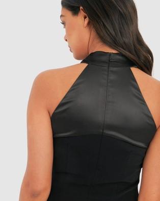 Forcast Greta Twist Halter Bodycon Dress - Dresses (Black)