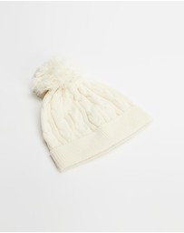 Walnut Melbourne - Valley Cable Knit Beanie - Babies