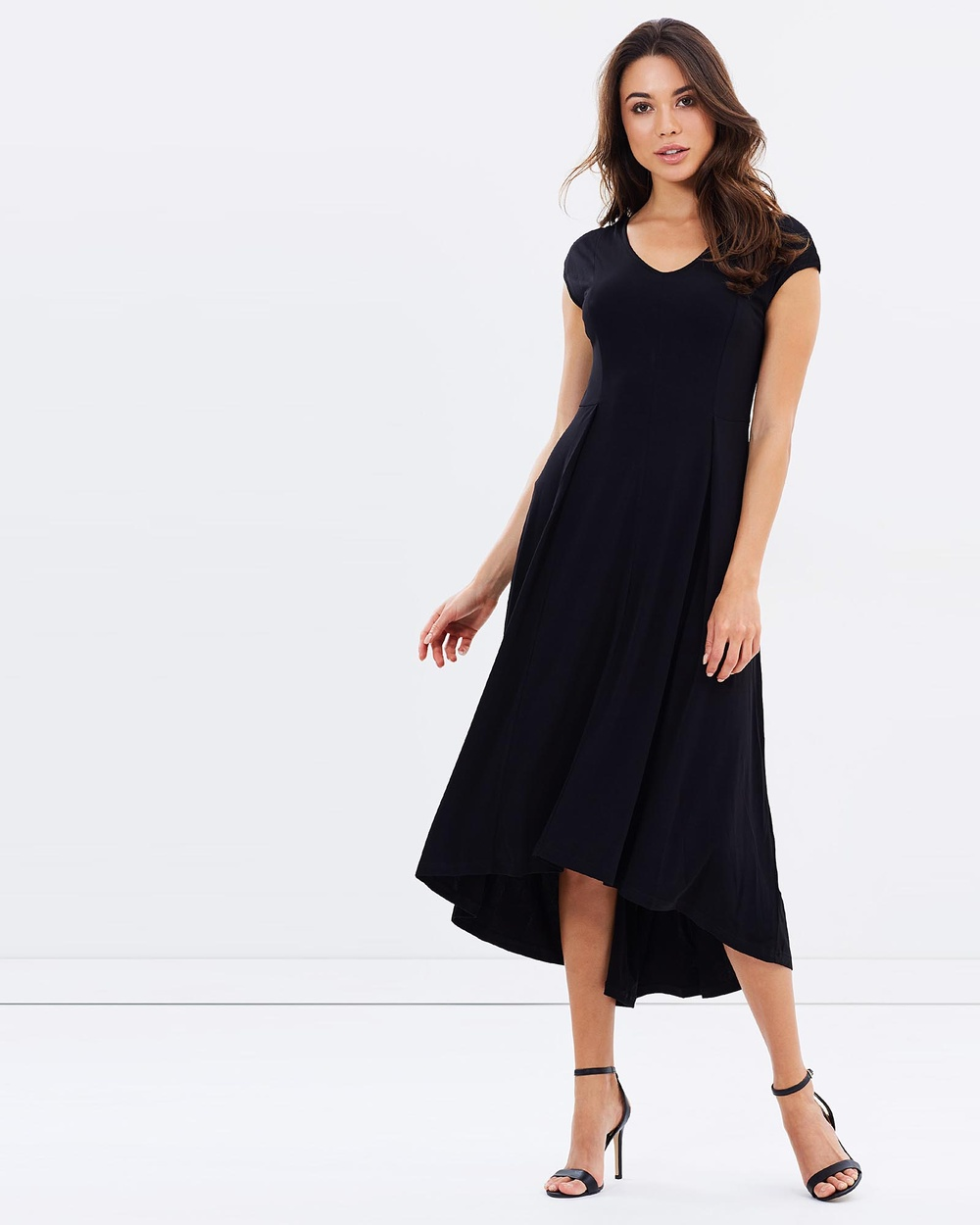 Faye Black Label Elegance V Neck Flare Dress Dresses Black Elegance V-Neck Flare Dress