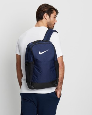 Nike Brasilia Medium Backpack - Backpacks (Midnight Navy, Black & White)