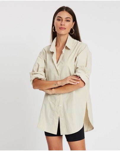 Missguided Nylon Shirt Stone
