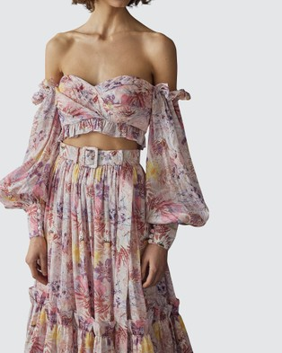 LEO & LIN Euphoria Silk Linen Bralette - Cropped tops (Pink)