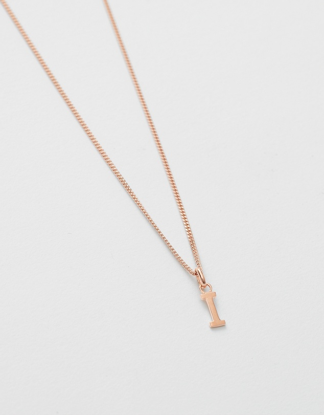 Women I Outline Initial Necklace