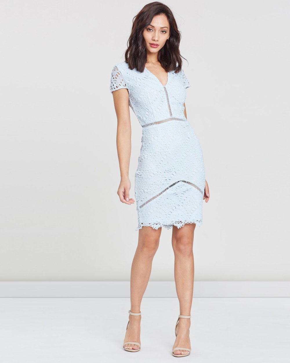 e03fbb4407 Crochet Bar Detail Midi Dress by Missguided Online