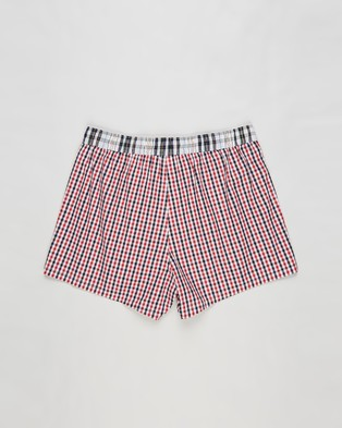 Tommy Hilfiger Woven Boxers Red Gingham