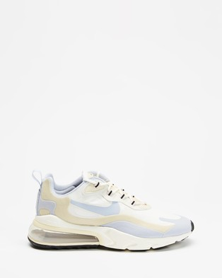 Nike Nike Air Max 270 React   Women's - Low Top Sneakers (Summit White & Ghost Fossil Sail)
