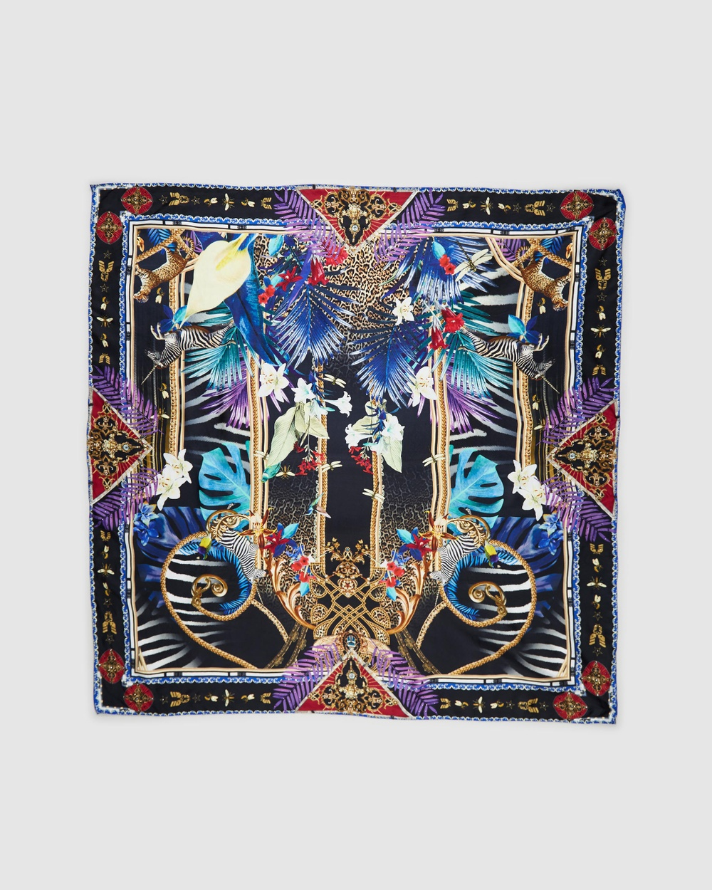 Camilla Large Square Scarf Scarves & Gloves Rainbow Room