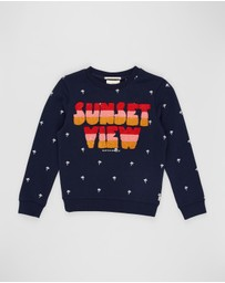 Scotch R'belle - All-Over Printed Crew Neck Sweatshirt - Teens
