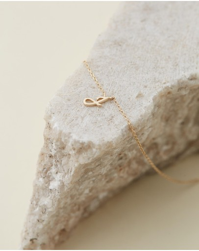By Charlotte - 14K Gold Love Letter J Necklace