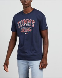 Tommy Jeans - Plaid Collegiate Tee
