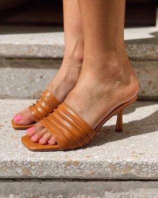 St Sana Emberly Mules - Heels (Brown)