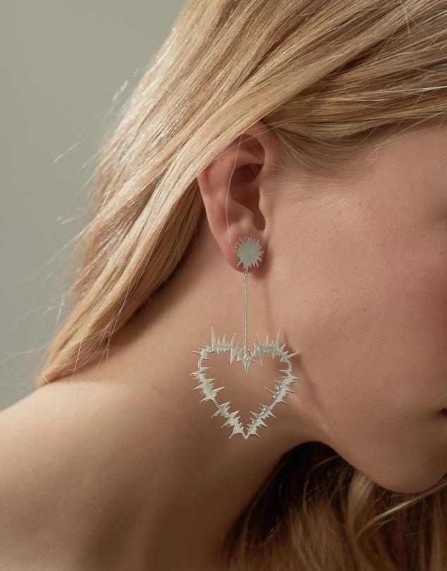 Women Electric Heart Drop Earrings