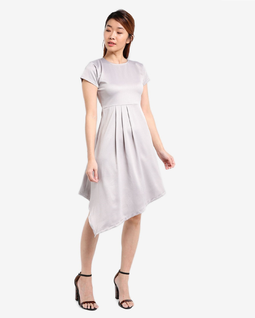 BoyFromBlighty Drape Dress Dresses Grey Drape Dress