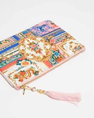 Camilla Small Canvas Clutch - Clutches (Party in the Palace)
