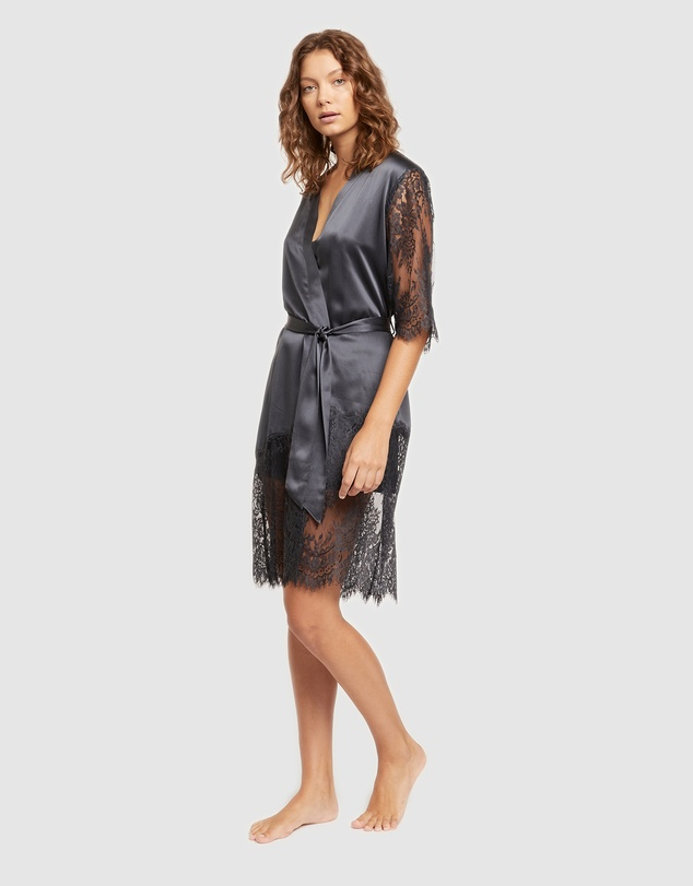Women Blaise Silk Robe
