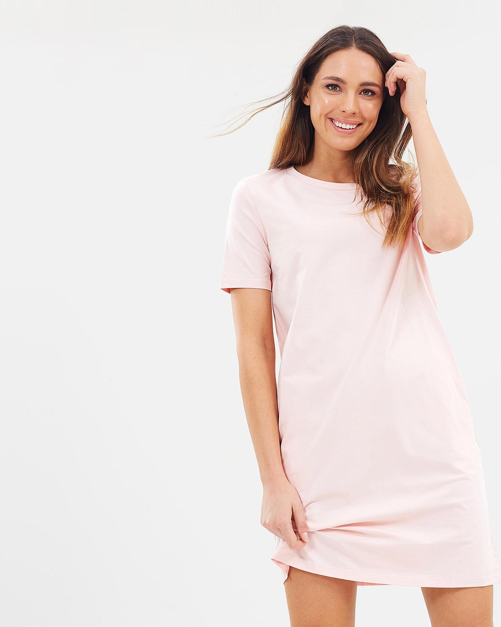 Lincoln St The Boxy Dress Dresses Smoke Pink The Boxy Dress