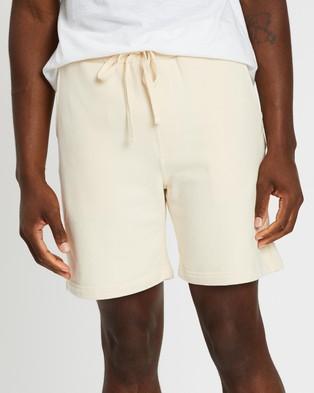 AERE Organic Sweat Shorts - Shorts (Off White)