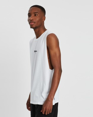 Afends - Distortion Bandcut Tee T-Shirts & Singlets (White)