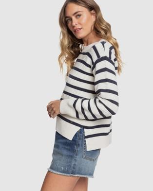 Roxy - Womens Deep Honey Knit Jumper - Jumpers & Cardigans (SNOW WHITE PARISAN S) Womens Deep Honey Knit Jumper