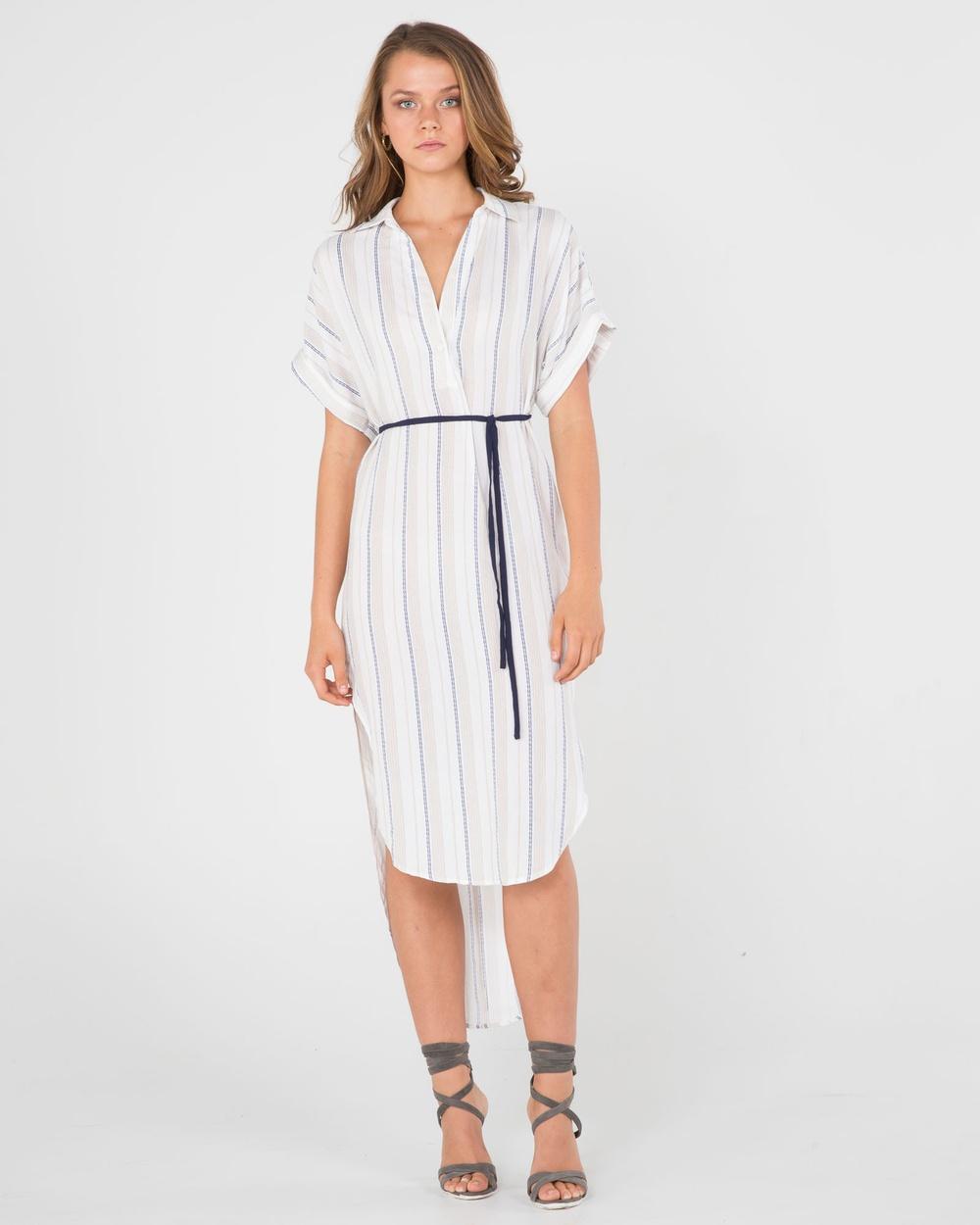 Amelius Mariner Hi Lo Dress Dresses Stripe Mariner Hi-Lo Dress