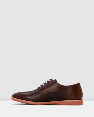 Rollie - Derby Mens Shoes Flats (Brown)