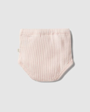 Wilson & Frenchy Organic Rib Nappy Pant   Babies - Bloomers (Angel Wing)