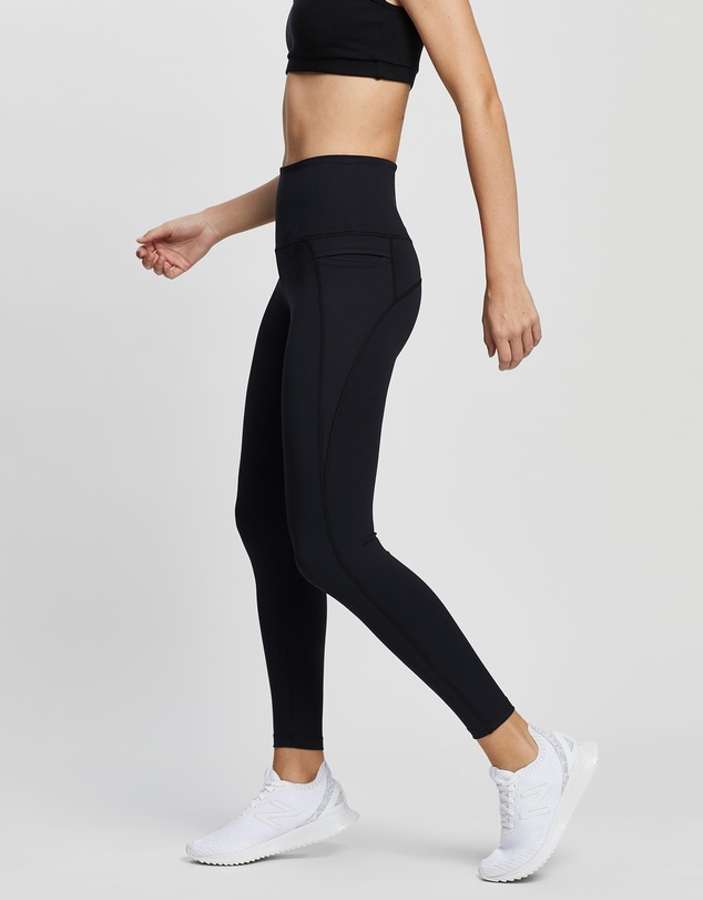 Women Side Pocket Full Length Leggings