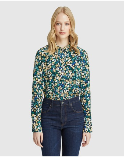 Oxford - Poppy Ditsy Floral Blouse