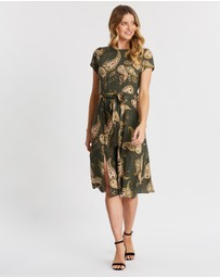 Dorothy Perkins - Paisley SS Split Midi Dress