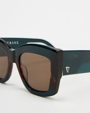 Valley Coltrane - Sunglasses (Dark Sea Green & Tortoise Brown)
