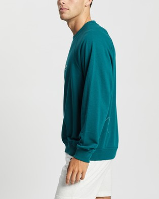 Champion French Terry Script Crew - Sweats (Sassafras)