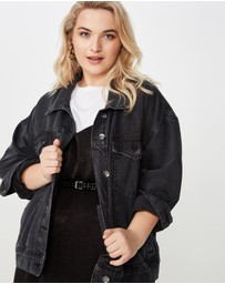 Cotton On Curve - Curve Boyfriend Denim Jacket