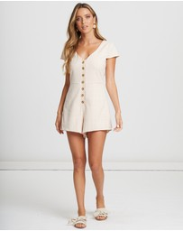 Calli - Bowen Button Playsuit