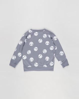 Cotton On Kids - Mila Crew Teens Sweats (Steel & Smile) Kids-Teens