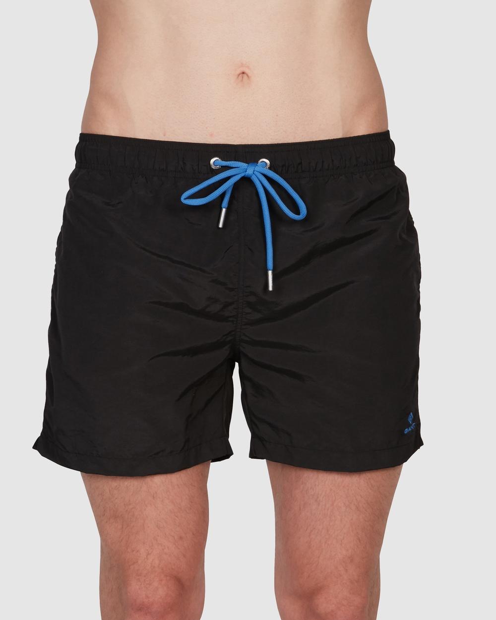 Gant Classic Fit Swim Shorts Briefs BLACK