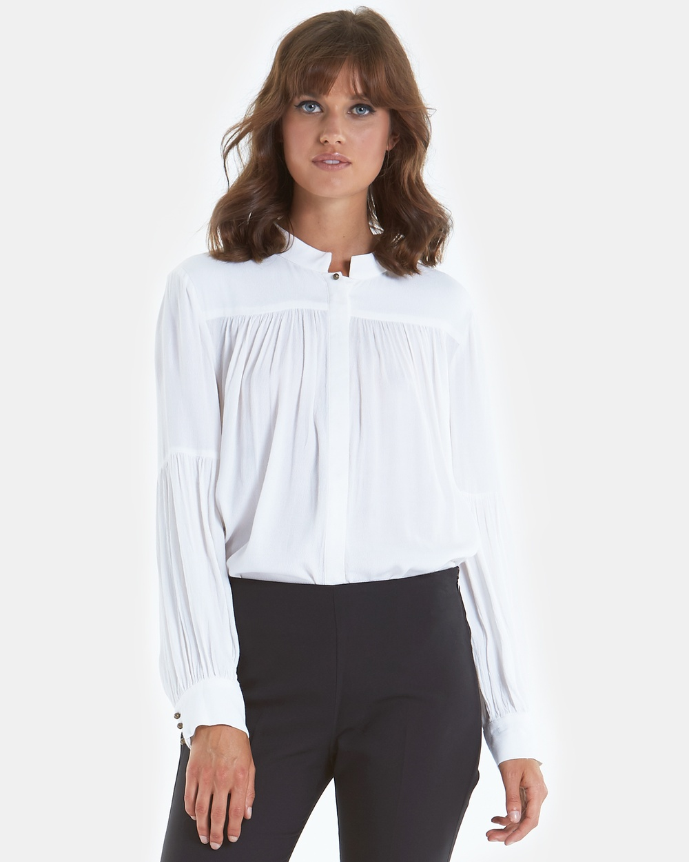 Amelius Arlo Blouse Tops White Arlo Blouse