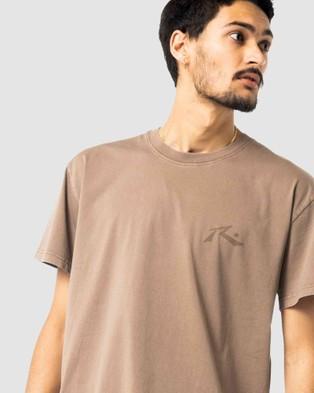Rusty - Comp Wash Short Sleeve Tee - Short Sleeve T-Shirts (FAL) Comp Wash Short Sleeve Tee