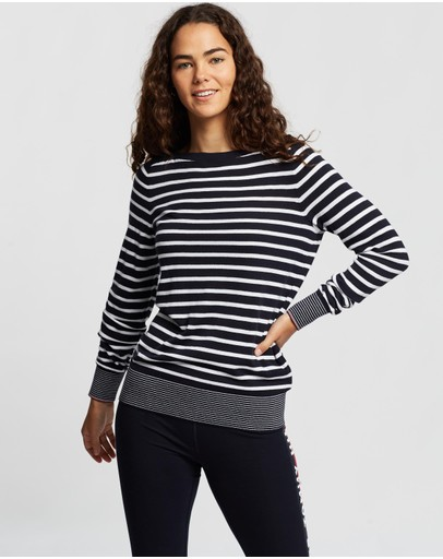 Tommy Hilfiger - Essential Stripe Boat-Neck Sweater