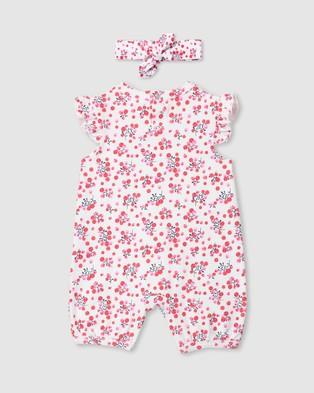 Milky Berries Romper & Headband   Babies - Shortsleeve Rompers (White)