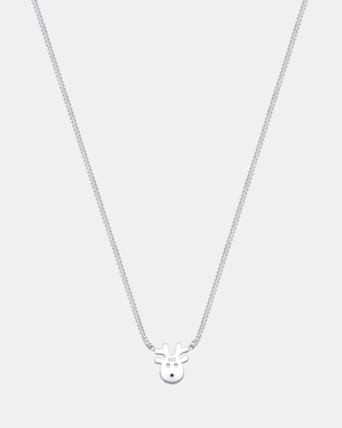 Elli Jewelry Kids - Necklace Kids Reindeer Swarovski?« Crystals 925 Sterling Silver - Jewellery (Silver)