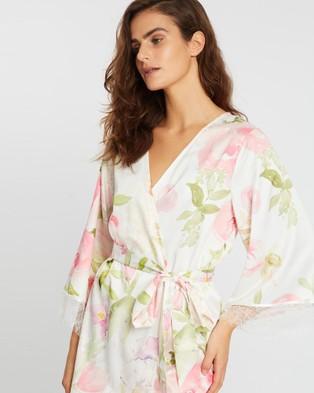 Homebodii Fleur Floral Robe - Sleepwear (Pink Floral)