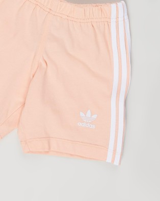 adidas Originals Short Tee Set Babies Kids Shorts White & Glow Pink Babies-Kids