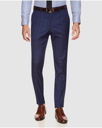 Oxford - Byron Wool Stretch Check Trousers