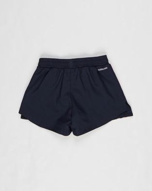 adidas Performance 3 Stripe Shorts   Kids Teens - Shorts (Legend Ink & Hazy Rose)