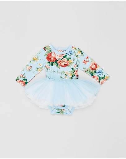 Rock Your Baby - French Floral Long Sleeve Circus Dress - Babies