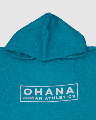 Ohana Adult Hooded Towel Tech Accessories Teal